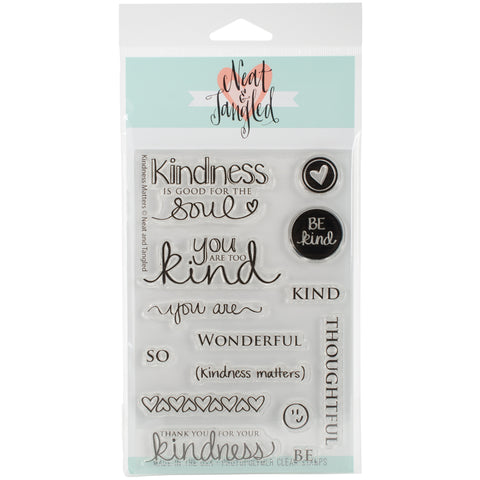 "Neat & Tangled Clear Stamps 4""X6""-Kindness Matters"