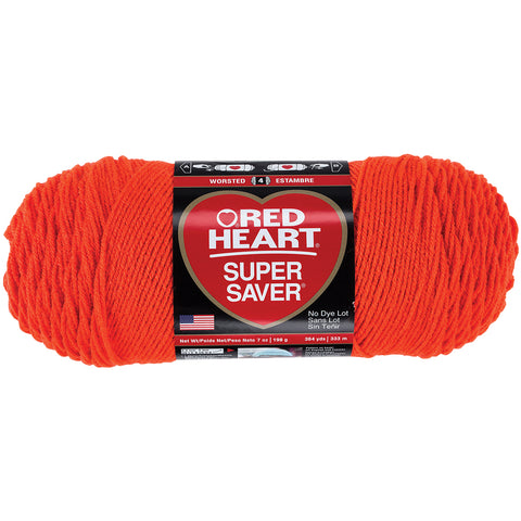 Red Heart Super Saver Yarn-Flame