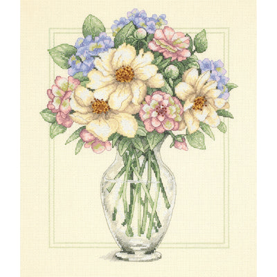 "Dimensions Counted Cross Stitch Kit 12""X14""-Flowers In Tall Vase (14 Count)"