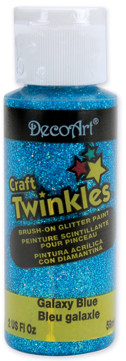 DecoArt Craft Twinkles Glitter Paint 2oz-Galaxy Blue