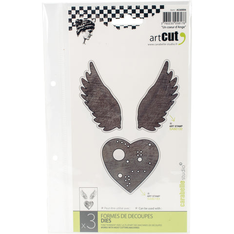 Carabelle Art Cut Die-An Angel Heart, 3/Pkg
