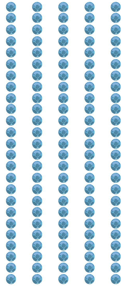 Mark Richards Crystal Stickers Elements 3mm Round 125/Pkg-Light Blue