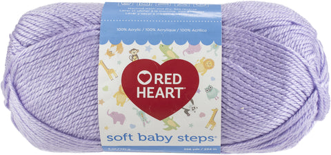 Red Heart Soft Baby Steps Yarn-Lavender