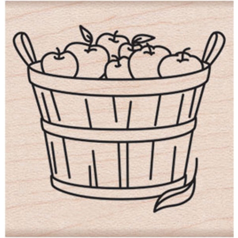 "Hero Arts Mounted Rubber Stamp 2""X2""-Basket Of Apples"