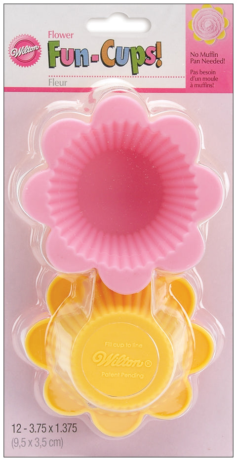 Silicone Standard Baking Cups-Flower 12/Pkg