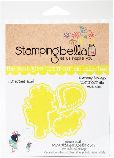 Stamping Bella Cut It Out Dies-Screamy Squidgy