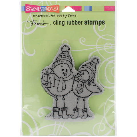 "Stampendous Cling Stamp 6.5""X4.5""-Spindly Birds"