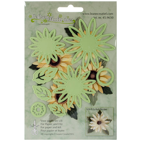 Lea'bilities Cut & Emboss Dies-Daisy Flower & Leaves, Up To 2.625""