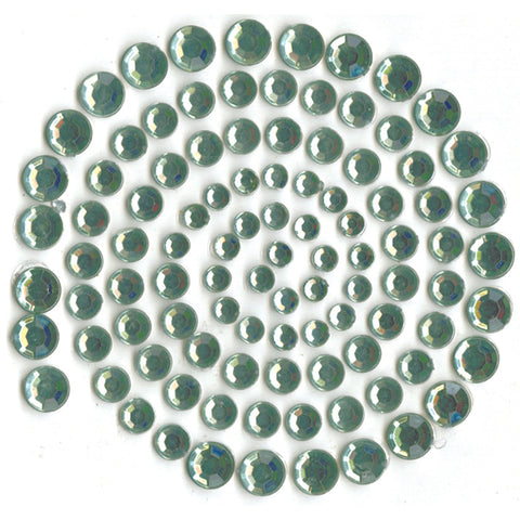 Kaisercraft Adhesive Rhinestones 100/Pkg-Blue Gray (Light Green)