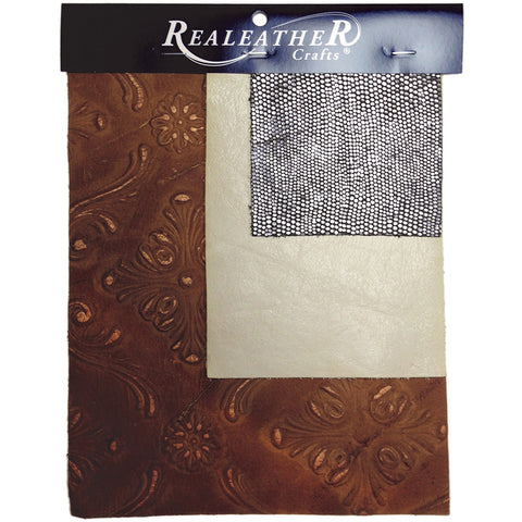 Realeather Crafts Leather Trim Pack 3/Pkg-Assorted
