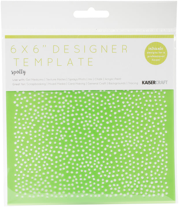 "Kaisercraft Designer Template 6""X6""-Spotty"