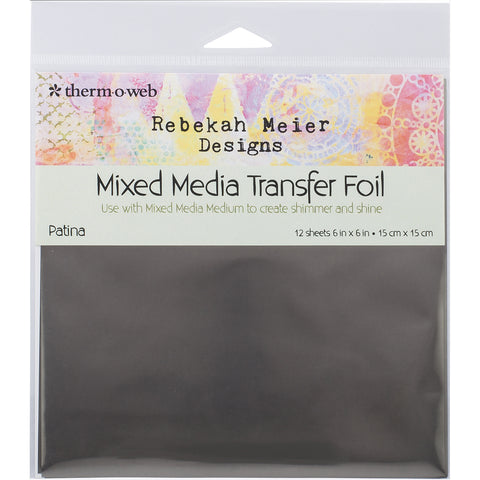 "Rebekah Meier Designs Transfer Foil 6""X6"" 12/Pkg-Patina"