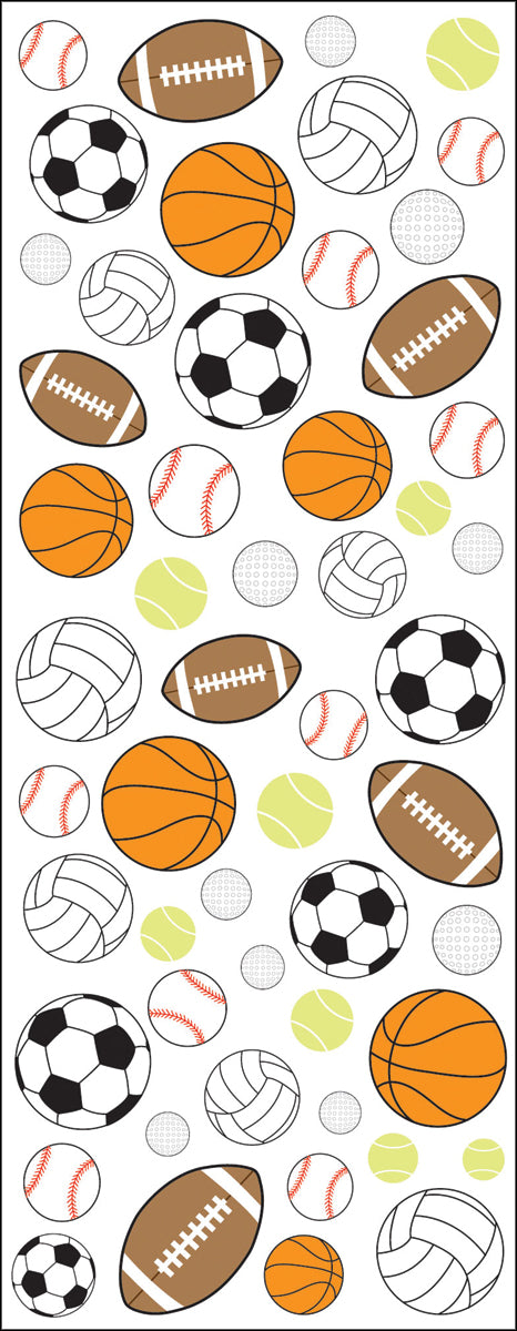 Sticko Dimensional Stickers-Sports Balls