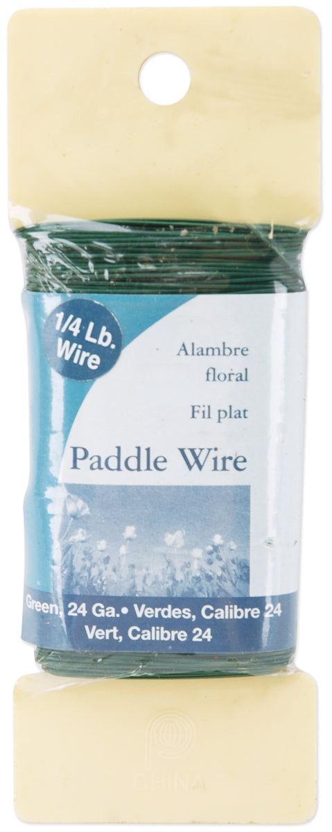 Paddle Wire 24 Gauge 4oz-Green