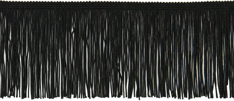 "Expo Chainette Fringe 4""X20yd-Black"