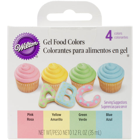 Gel Food Colors .3oz 4/Pkg-Pastel