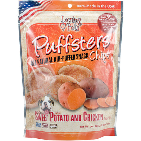 Puffsters Treat Chips 4oz-Sweet Potato & Chicken