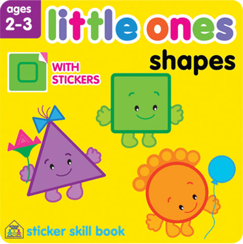 Little Ones Sticker Skill Book-Shapes - Ages 2-3