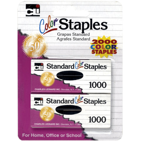 Color Staples 2,000/Pkg-Assorted