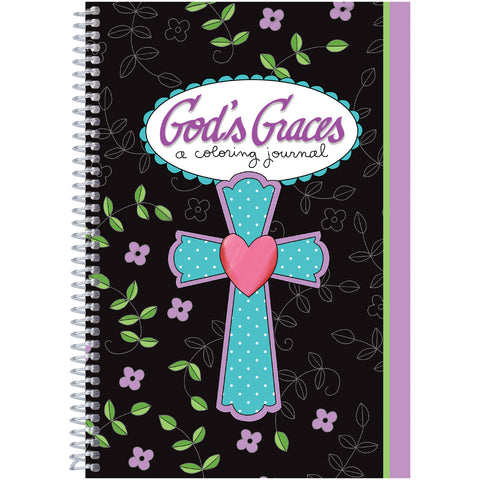 The Coloring Cafe' Coloring Book-God's Graces - A Coloring Journal