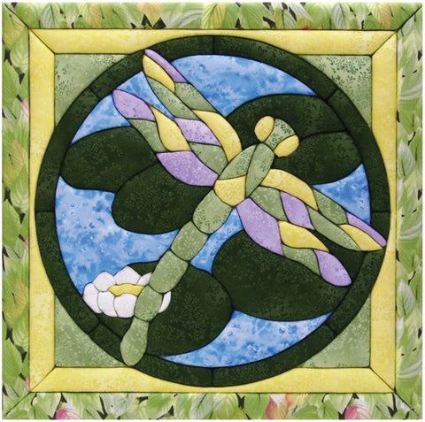 Quilt-Magic No Sew Wall Hanging Kit-Dragonfly
