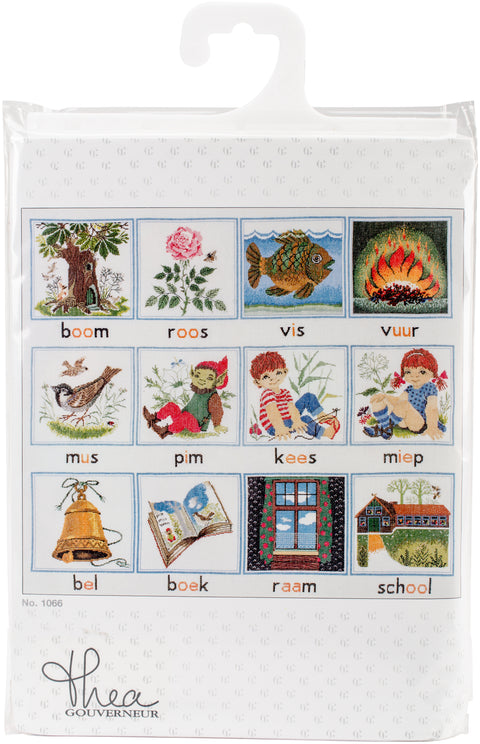 "Thea Gouverneur Counted Cross Stitch Kit 23.5""X27.5""-Alphabet On Aida (18 Count)"
