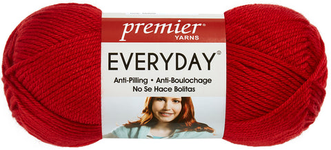 Premier Yarns Anti-Pilling Everyday Worsted Solid Yarn-Really Red