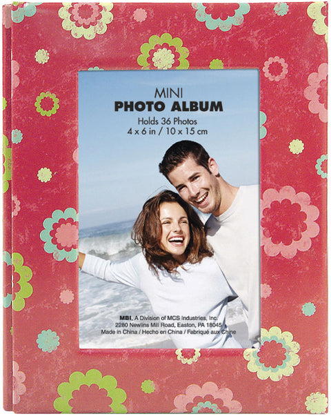 "MBI Photo Brag Book 4""X6""  -Floral Dots"