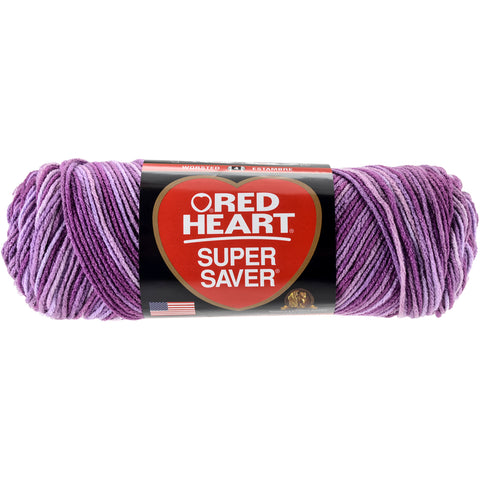 Red Heart Super Saver Yarn-Purple Tone