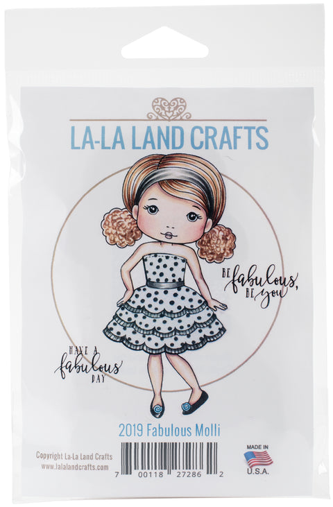 "La-La Land Cling Stamps 4.5""X3.5""-Fabulous Molli"