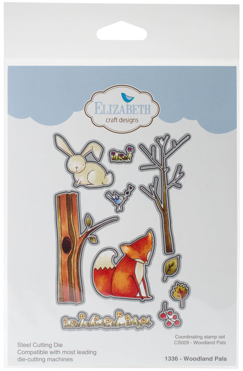Elizabeth Craft Metal Die By Krista Designs-Woodland Pals