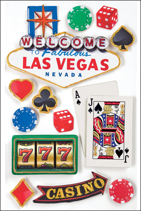 "Paper House 3D Stickers 4.5""X7.5"" -Las Vegas"