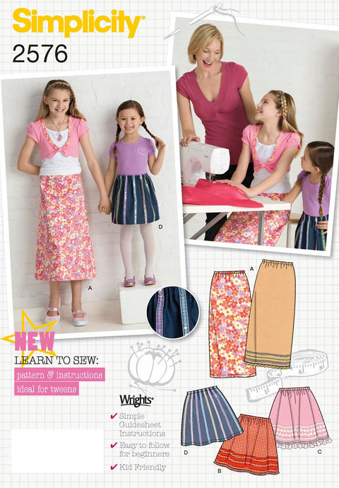SIMPLICITY CHILD GIRL SKIRTS PANTS-3 4 5 6