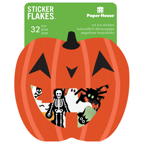 Paper House Sticker Flakes Cut Out Stickers 32/Pkg-Halloween