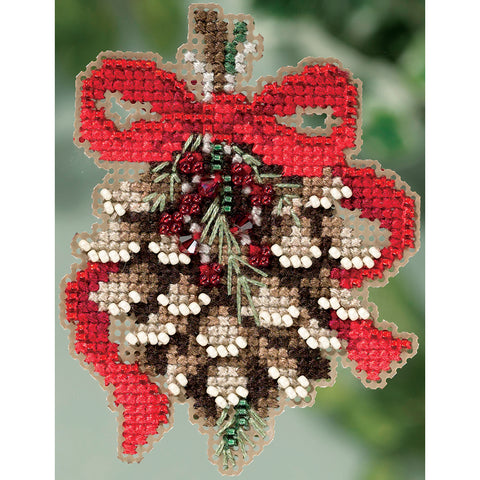 "Mill Hill Counted Cross Stitch Kit 2.75""X2.75""-Pinecone (14 Count)"