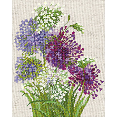 "RIOLIS Counted Cross Stitch Kit 9.5""X11.75""-Allium (14 Count)"