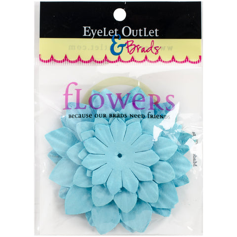 Eyelet Outlet Flowers 40/Pkg-Blue
