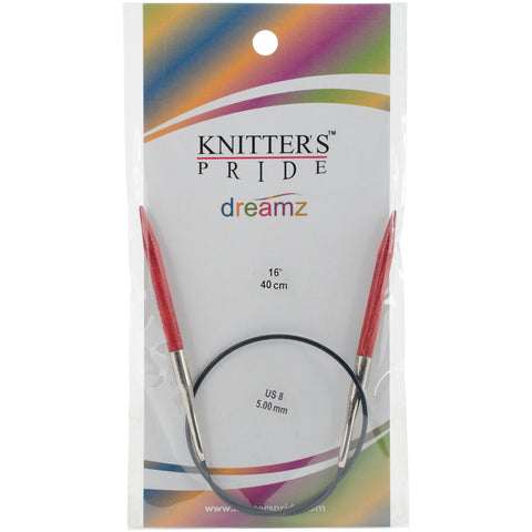 "Knitter's Pride-Dreamz Fixed Circular Needles 16""-Size 8/5mm"