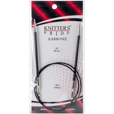 "Knitter's Pride-Karbonz Fixed Circular Needles 32""-Size 6/4mm"