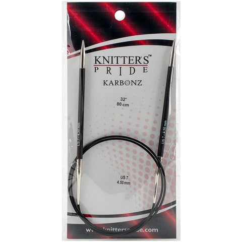 "Knitter's Pride-Karbonz Fixed Circular Needles 32""-Size 7/4.5mm"