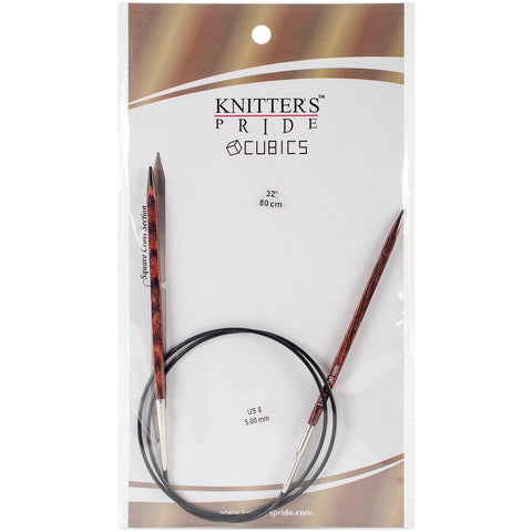 "Knitter's Pride-Cubics Fixed Circular Needles 32""-Size 8/5mm"