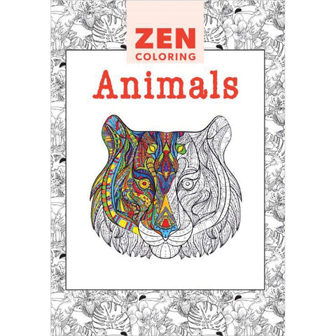Guild Of Master Craftsman Books-Zen Coloring Animals