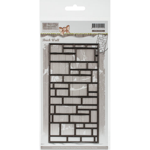 Find It Trading Precious Marieke Rustic Christmas Die-Brick Wall