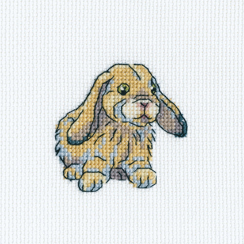 "RTO Counted Cross Stitch Kit 3.5""X3.5""-Rabbit Fanny (14 Count)"