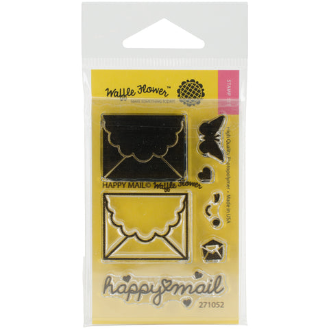 "Waffle Flower Crafts Clear Stamps 2""X3""-Happy Mail"