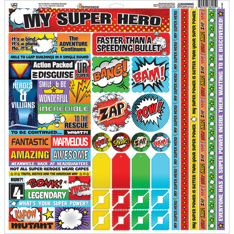 "My Super Hero Variety Stickers 12""X12""-"