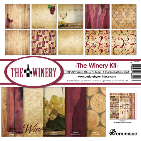 "Reminisce Collection Kit 12""X12""-Winery"