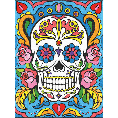 "Pencil Works Color By Number Kit 9""X12""-Sugar Skull"