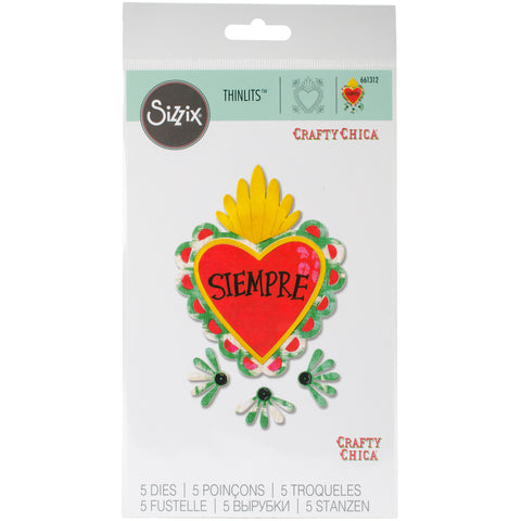 Sizzix Thinlits Dies-Sacred Heart W/Flowers