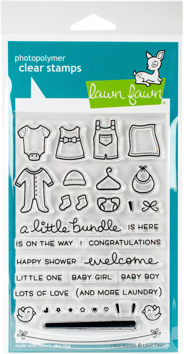 "Lawn Fawn Clear Stamps 4""X6""-Little Bundle"